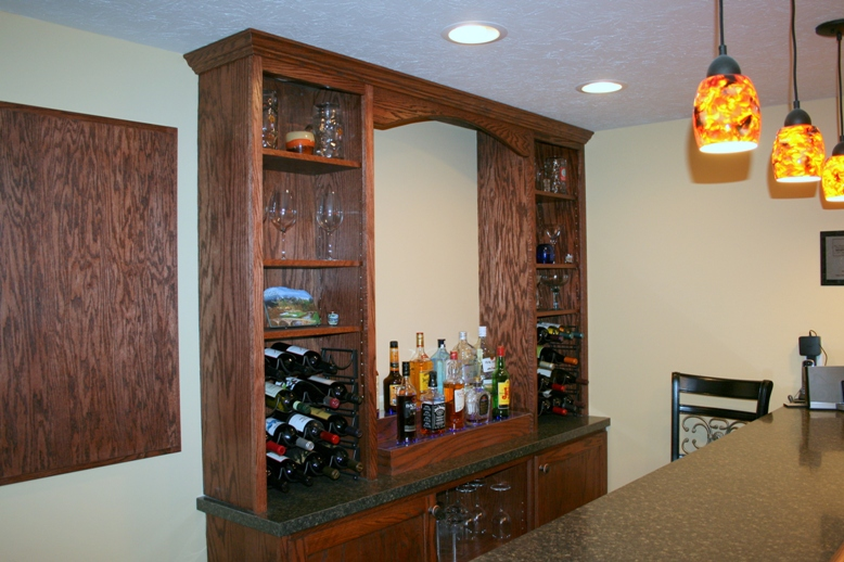 back bar with arch