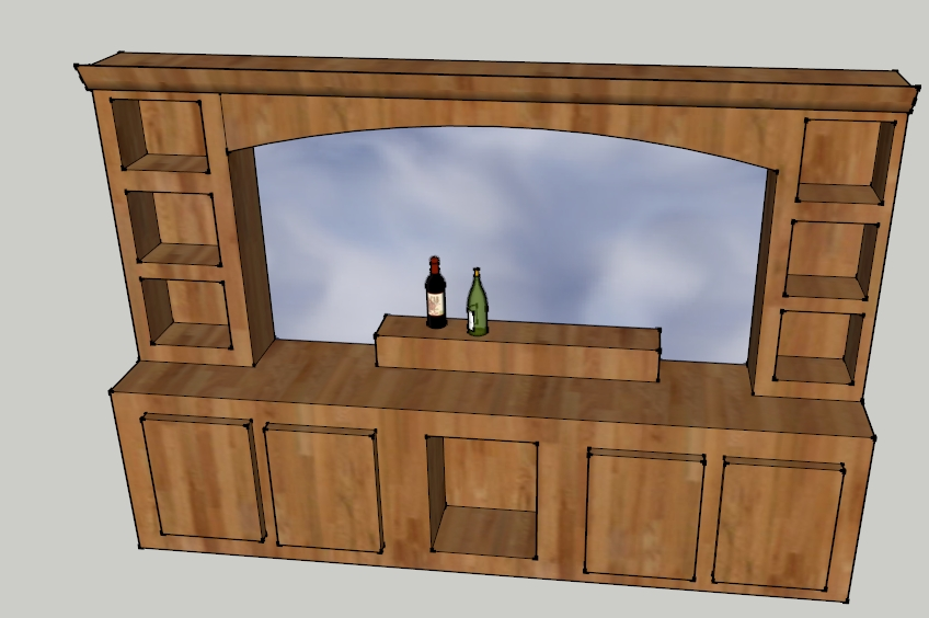 Siwik back bar rendering